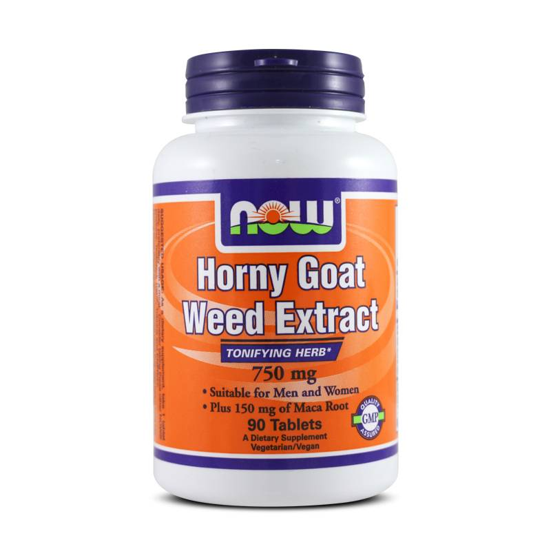 Now Foods HORNY GOAT WEED EXTRACT 750mg 90 Tabs