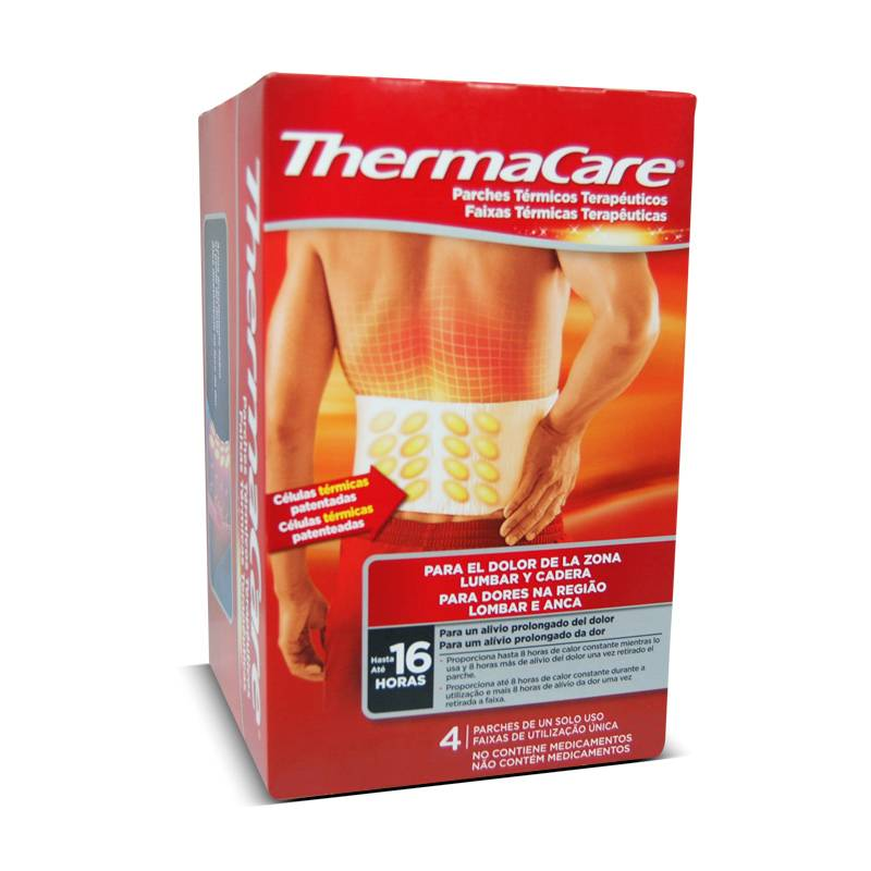 THERMACARE ZONA LUMBAR Y CADERA 4 Unds