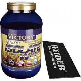 Pack Victory Neo Isolate Whey 100 CFM 2.2 Kg + Toalla Negra Sabor Choco-(Formato 2 Kg)