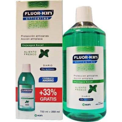 Fluor Kin Enjuague bucal anticaries , 1000 ml