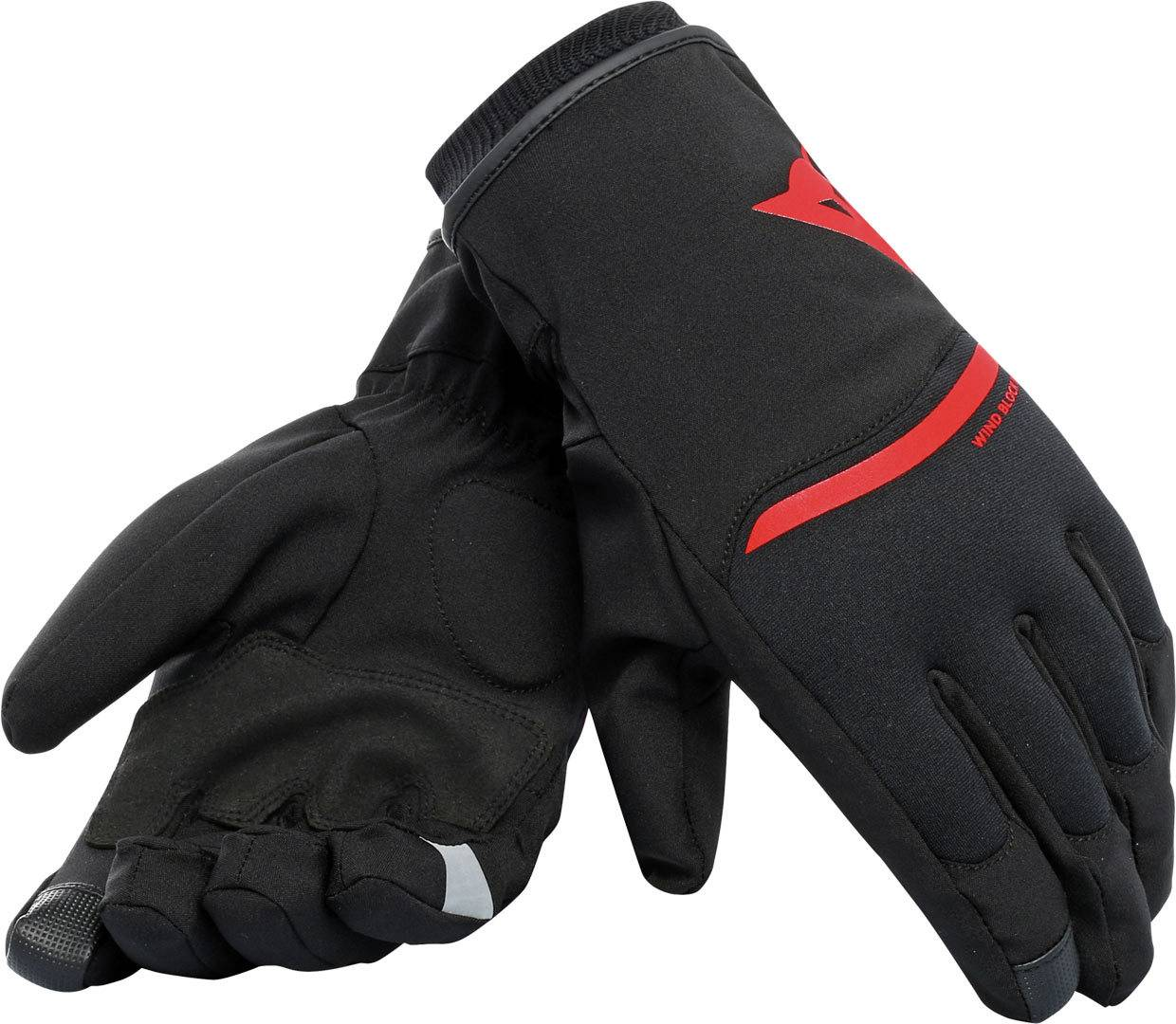 8052644633870 Dainese Plaza 2 D-Dry Guantes Negro/Rojo L