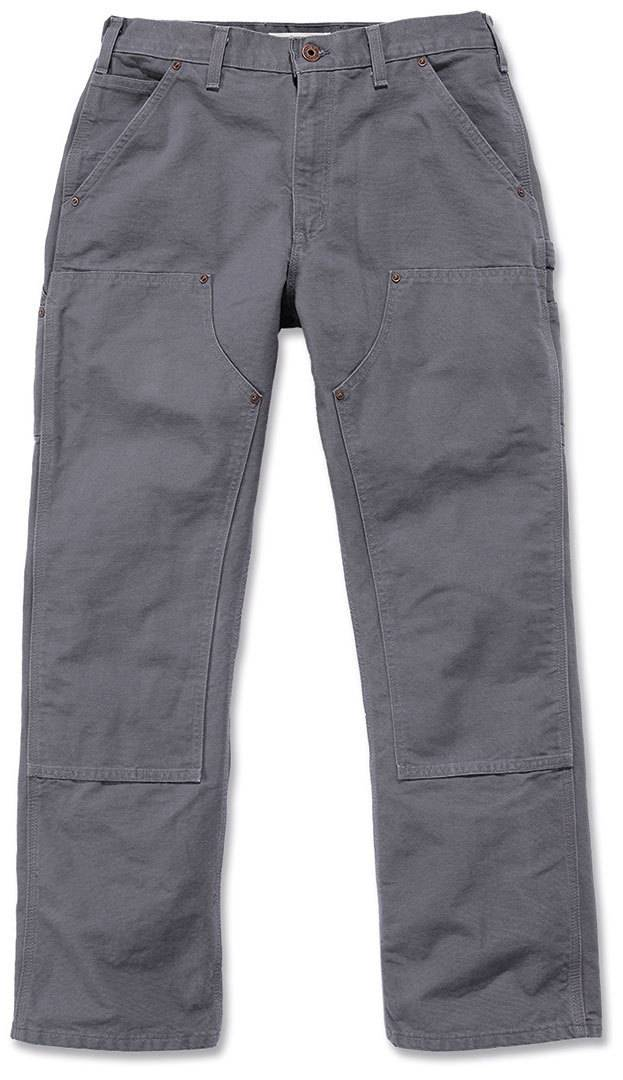Carhartt Washed Duck Double-Front Work Dungaree Pantalones Gris Claro 34