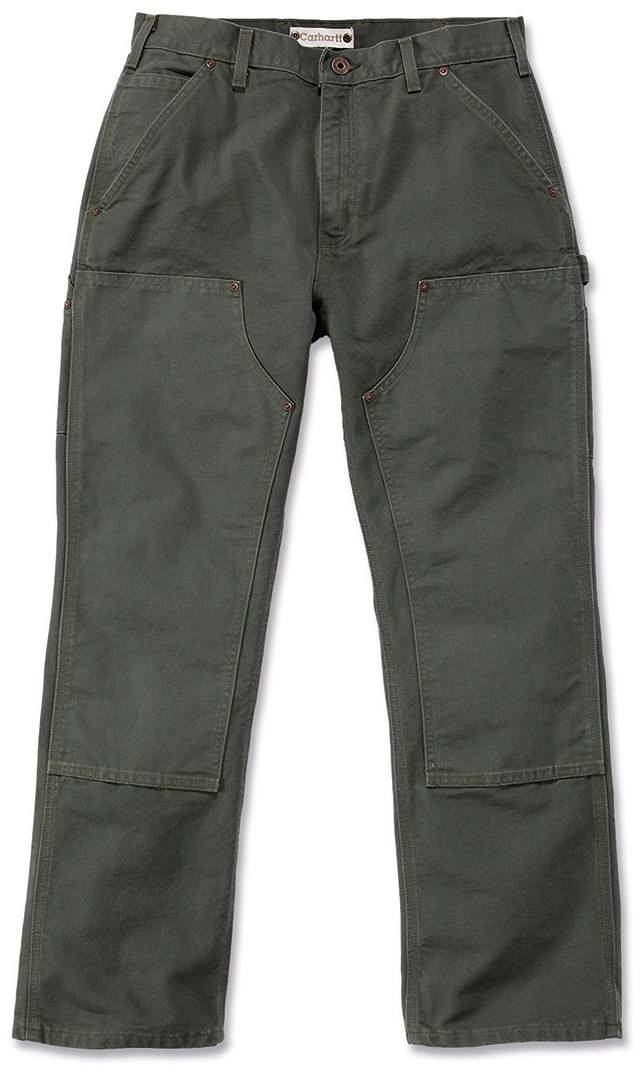 Carhartt Washed Duck Double-Front Work Dungaree Pantalones Verde Oscuro 38