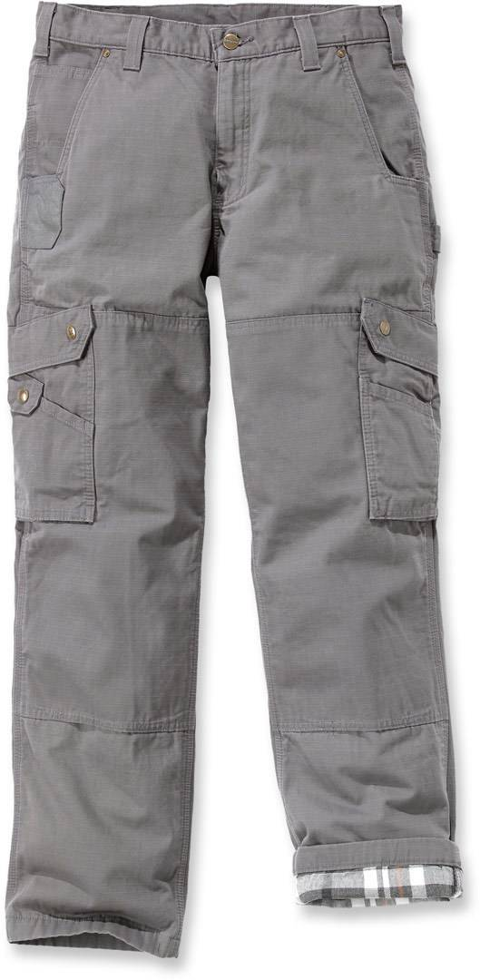 Carhartt Flannel Lined Ripstop Cargo Pantalones Gris 36