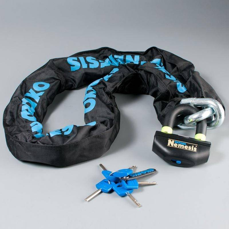 Oxford Nemesis Ultra Strong Chain and Padlock Negro 200 cm