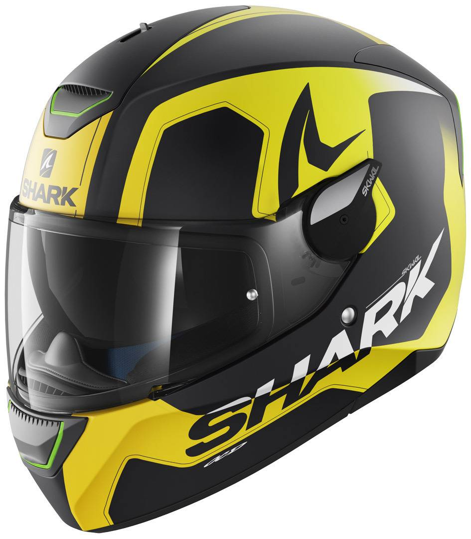 Shark Skwal Trion Mat Casco Negro Mate/Amarillo XS (53/54)