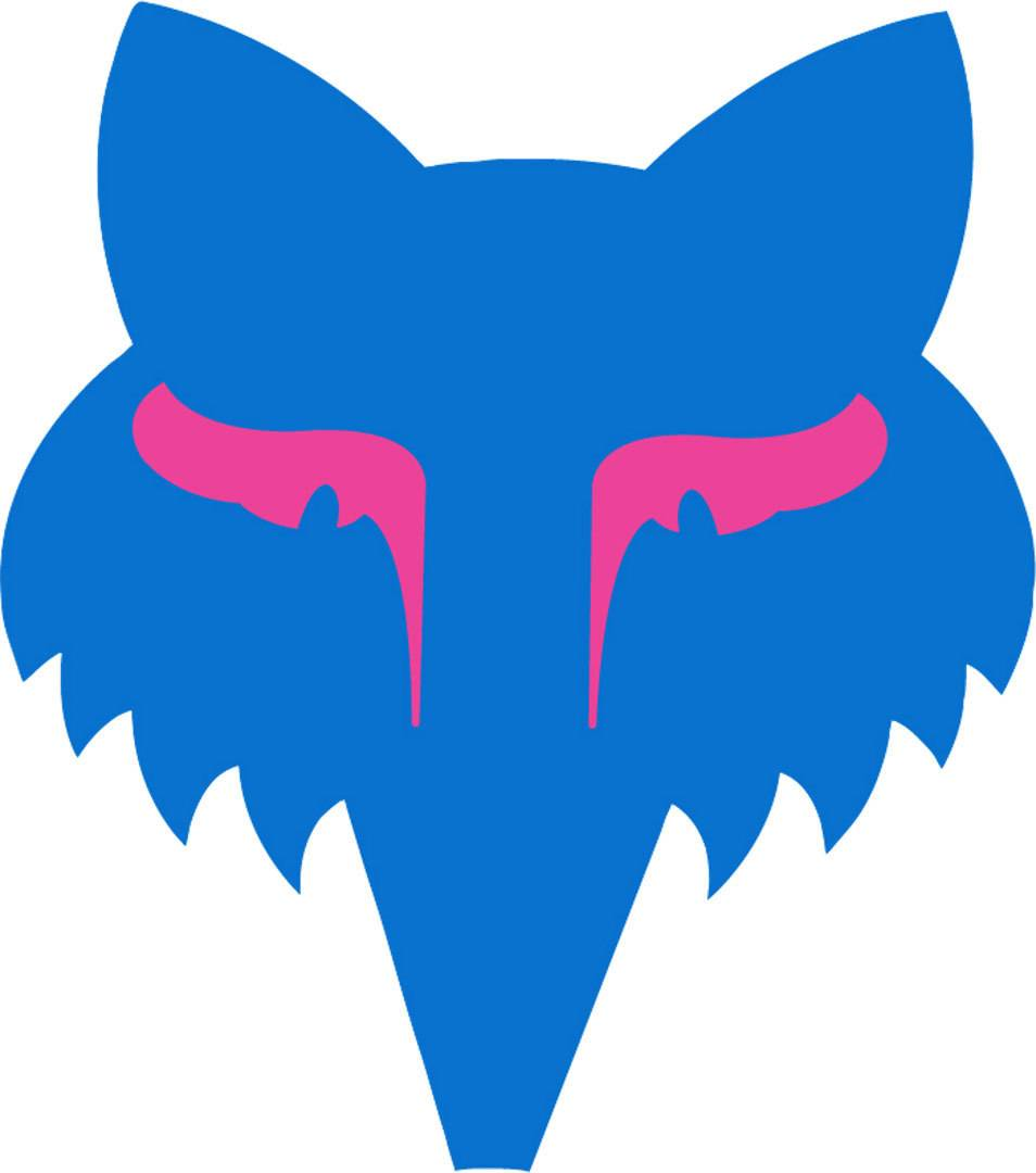 Fox Legacy Head Sticker 3,5 Zoll Blue/Pink