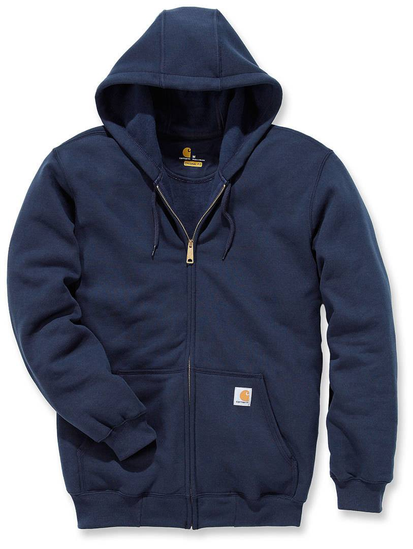 Carhartt Midweight Hooded Zip Front Sudadera Azul Oscuro M