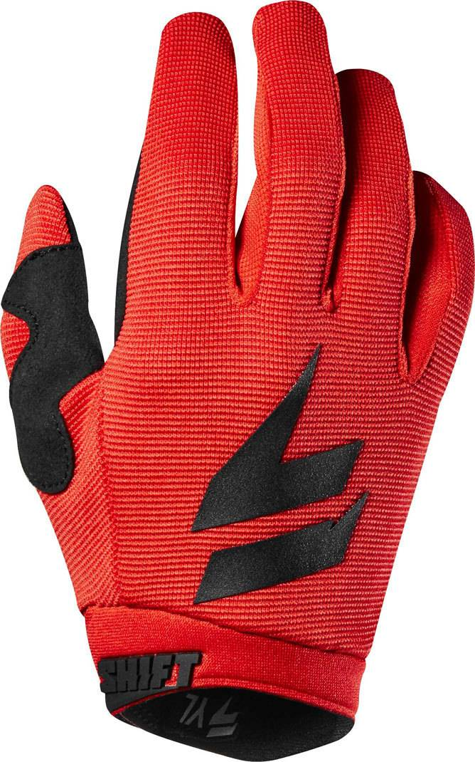 Shift WHIT3 Air Youth Guantes Negro/Rojo S