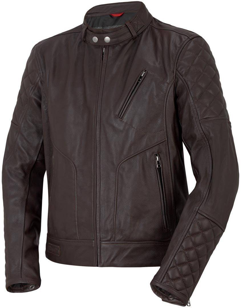 Bogotto Chicago Retro Chaqueta de cuero moto Marrón 60