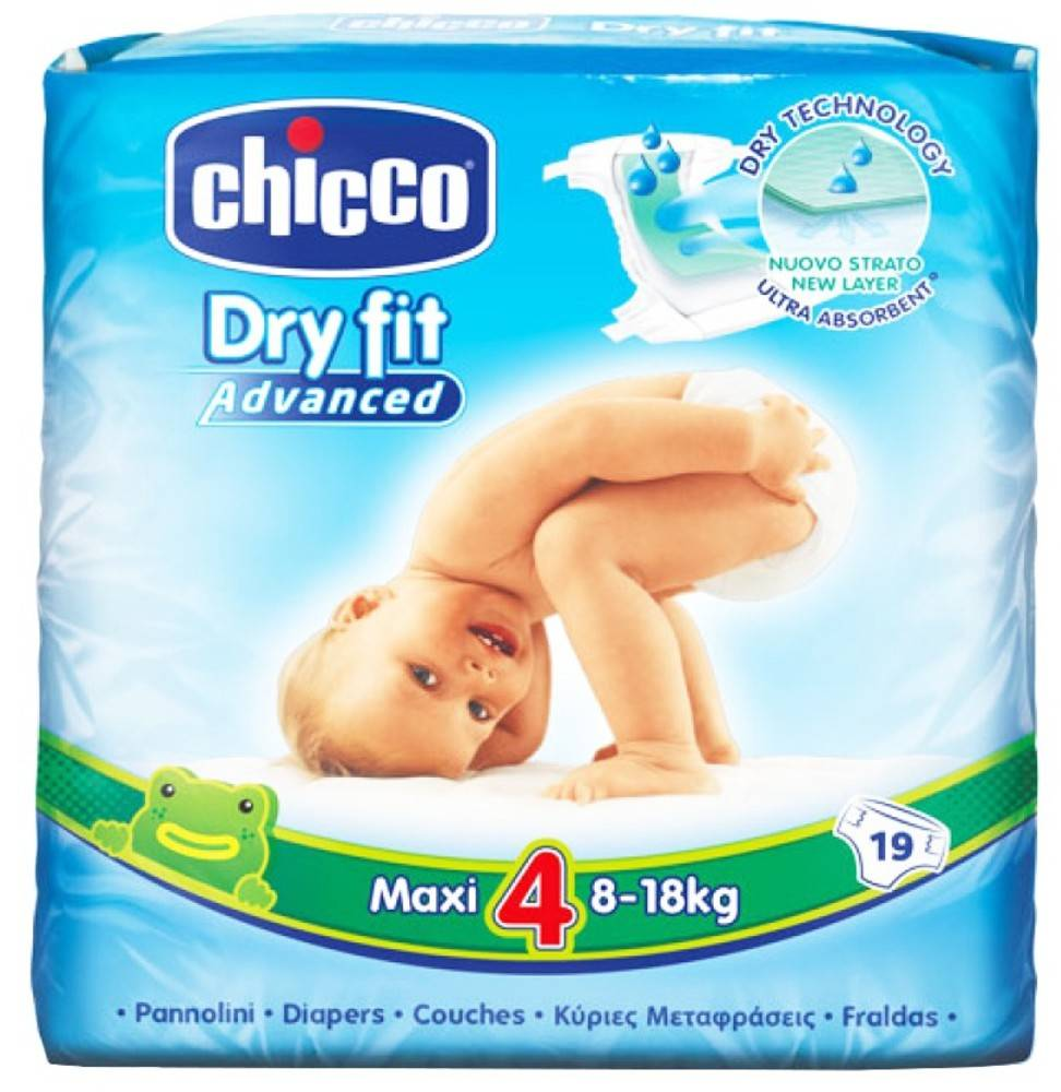 Chicco Pañales Chicco Dry Fit Maxi Advanced T4 (8-18 Kg) 19 Uds
