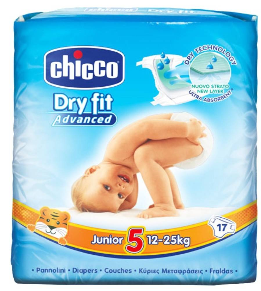 Chicco Pañales Chicco Dry Fit Junior Advanced T5 (12-25 Kg) 17 Uds