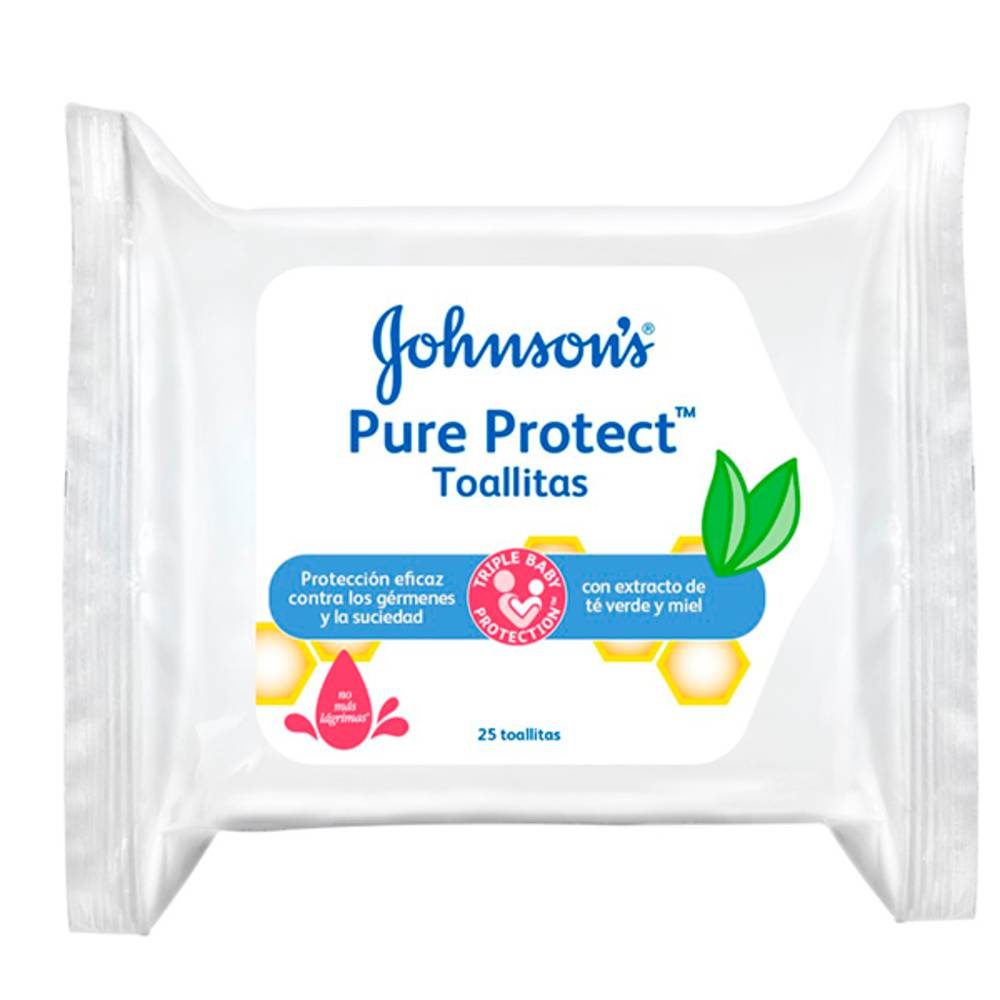Johnson's Baby Toallitas Pure&protect Johnson'S Baby 25 Uds 0m+