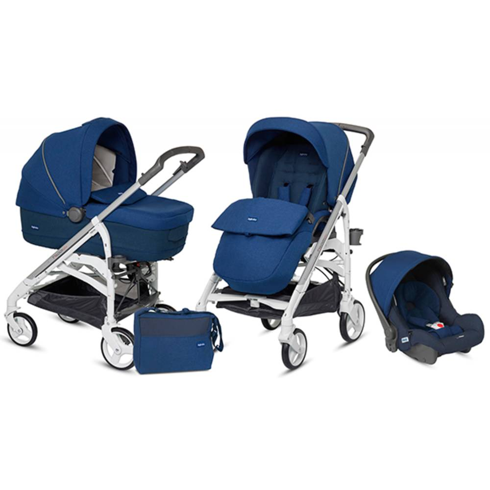 Inglesina Trío Trilogy Comfort Touch Con Chasis Blanco Cobalt Blue Inglesina