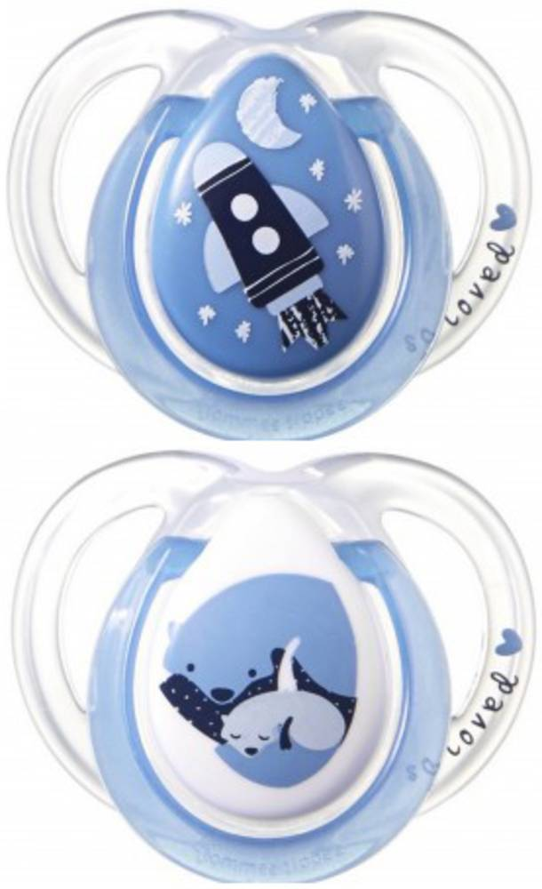 tommee tippee Chupete Closer To Nature Night Silicona Tommee Tippee 2 Uds 0m+