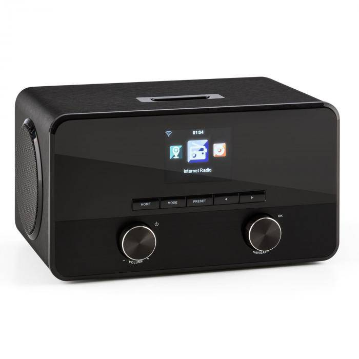 Auna Connect 100 Radio Internet Reproductor multimedia Bluetooth WLAN USB AUX Line Out (KC3-Connect 100 BK)