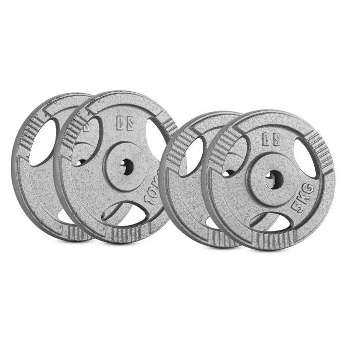 CAPITAL SPORTS IP3H 30 kg Set Juego de discos de peso 2 x 5 kg + 2 x 10 kg 30 m (PL-IP3H-SET6)