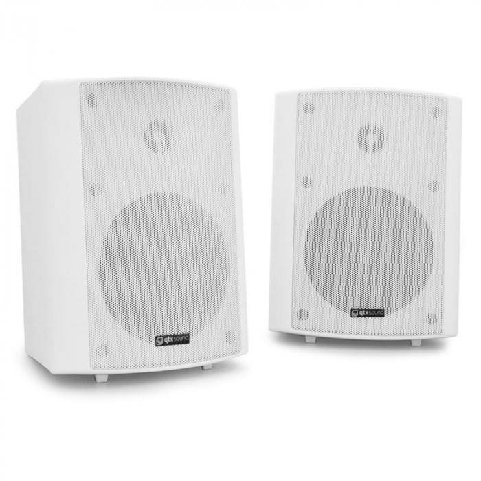 QTX Par de altavoces de pared  BC5A - color blanco, 30W RMS (170.165UK)