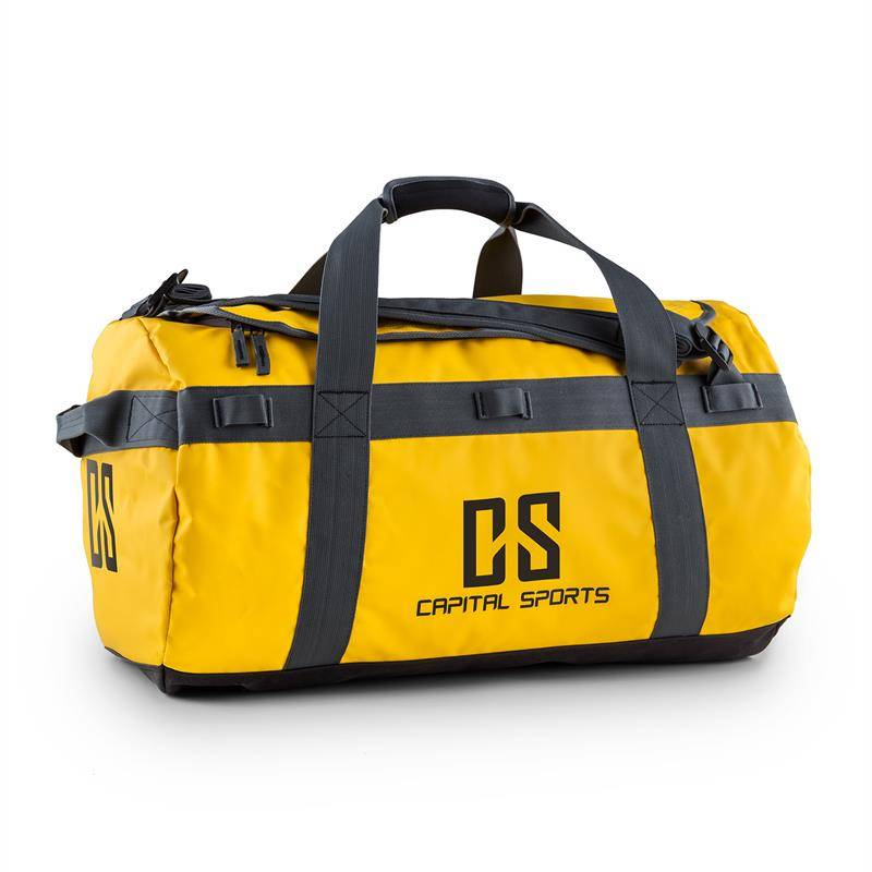 Capital Sports Journ Bolsa de deporte 60l Cilíndrica Impermeable Robusta Amarill (FIT23-Journ)