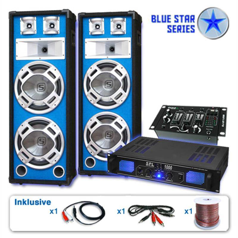 Electronic-Star Serie Blue Star Basskern Equipo de audio profesional USB 2800W (BS-BasskernUSB)