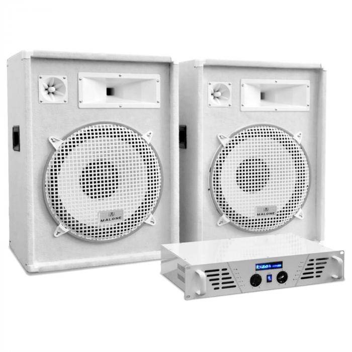 "Electronic-Star White Star Series ""Arctic Frost"" Equipo sonido PA 1600W (PL-AU-WH-1600-2.0)"