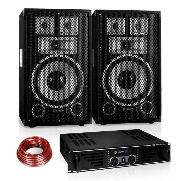 "Electronic-Star ""Warm Up Party"" 10PLUS serie Saphir Set PA 2.1 600W (PL-10875-1715-2629)"