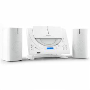 OneConcept Vertical 80 Equipo de música CD USB MP3 AUX Blanco (MG8-VERTICAL-80-W)