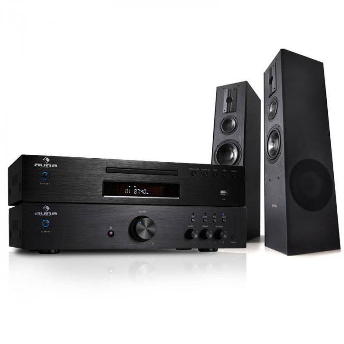 Electronic-Star sistema HIFI 600W Amplificador Reproductor CD MP3 Receptor+ altavoces HIFI (PL-4933-5063-1689)