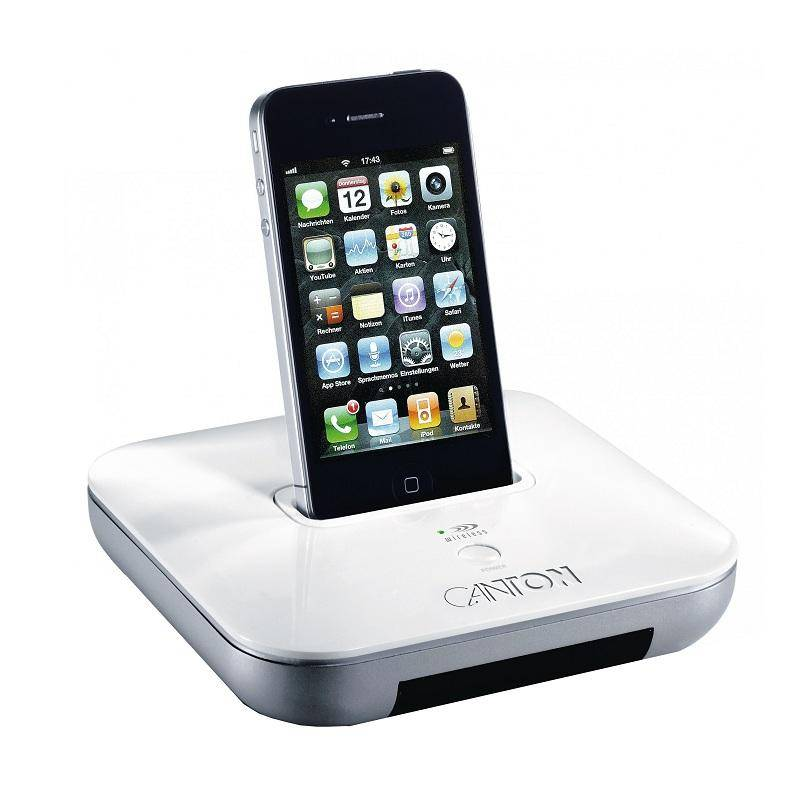 Canton your_Dock Base dock inalámbrica iPhone iPod Blanca (03291)