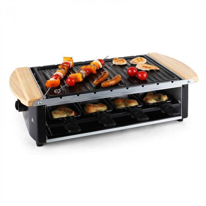 Klarstein Raclette 8 personas 1200 W (GQ6-CHATEAUBRIAND-50)