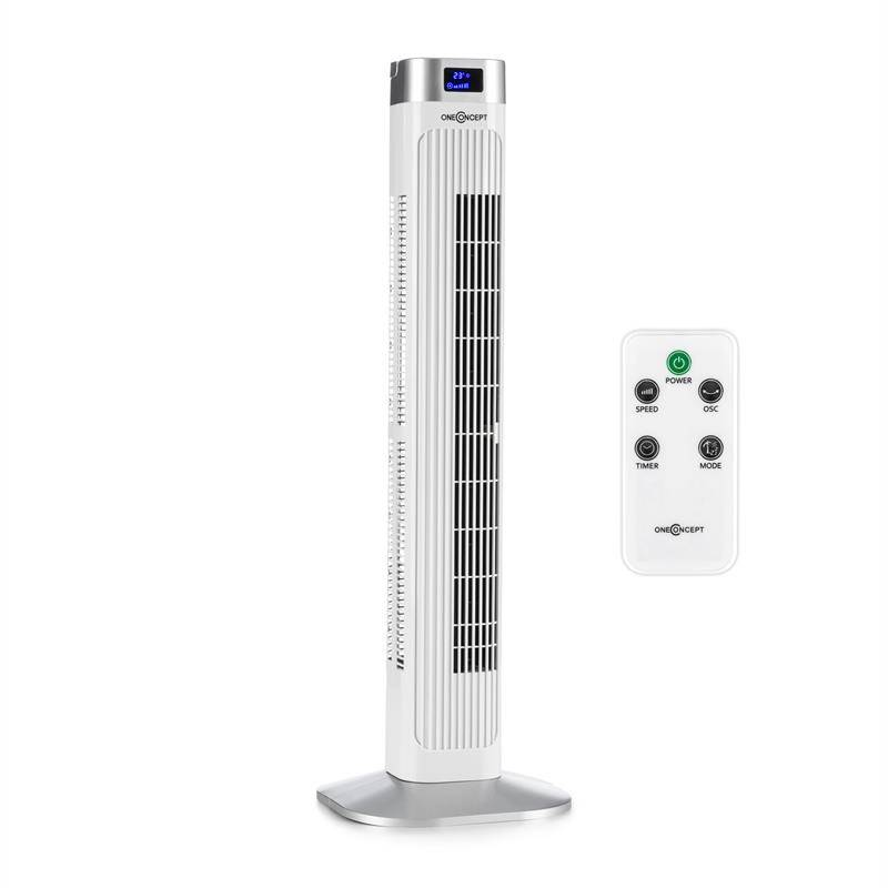 OneConcept Hightower 2G Ventilador de torre Ventilador de pie 50W Mando a distancia blanco (VTS10-Hightower2G-W)
