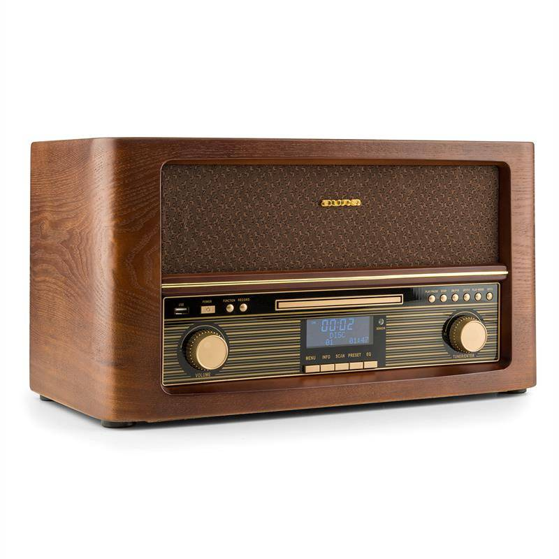 Auna Belle Epoque 1906 DAB equipo de sonido retro CD MP3 Bluetooth USB FM (RM1-Epoque1906 DAB)