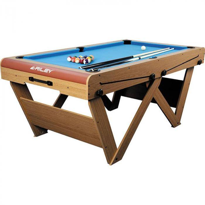 Riley FSPW-6 Mesa de billar snooker plegable 183 x 79 x 97cm