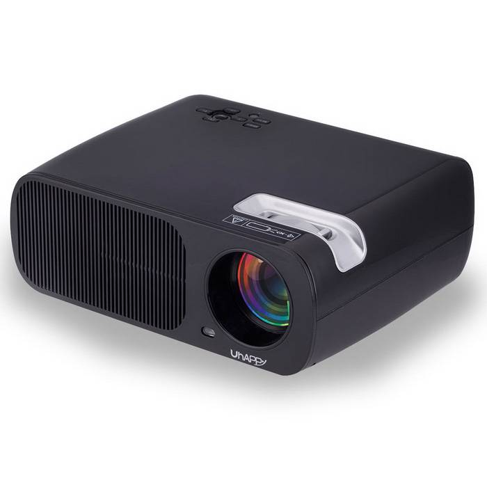 UHAPPY U20 HD home theater proyector LED con sd? hdmi? VGA - negro