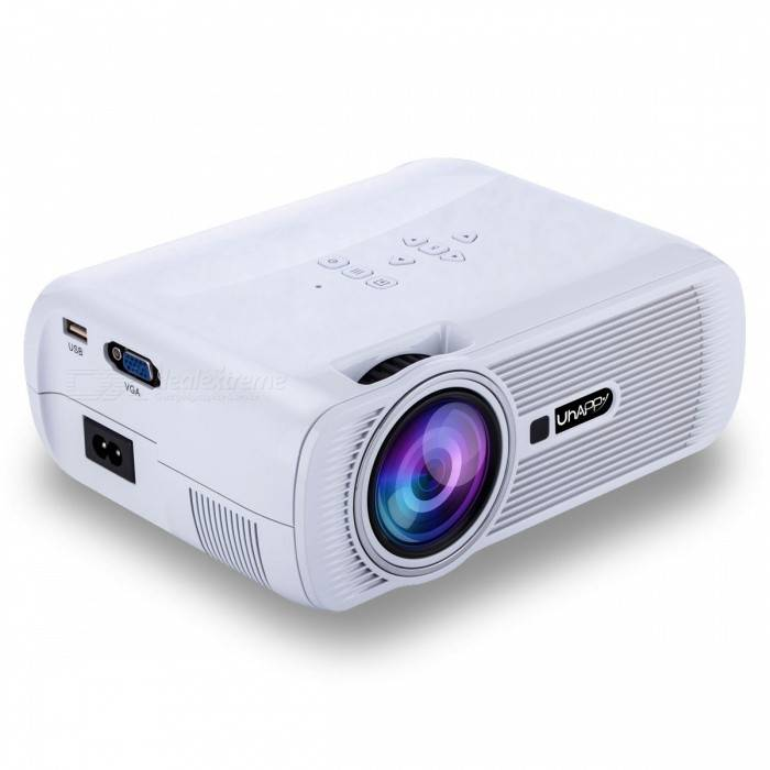 UHAPPY U80 Plus Android 6.0 Proyector LCD con Bluetooth Wi-Fi-Blanco