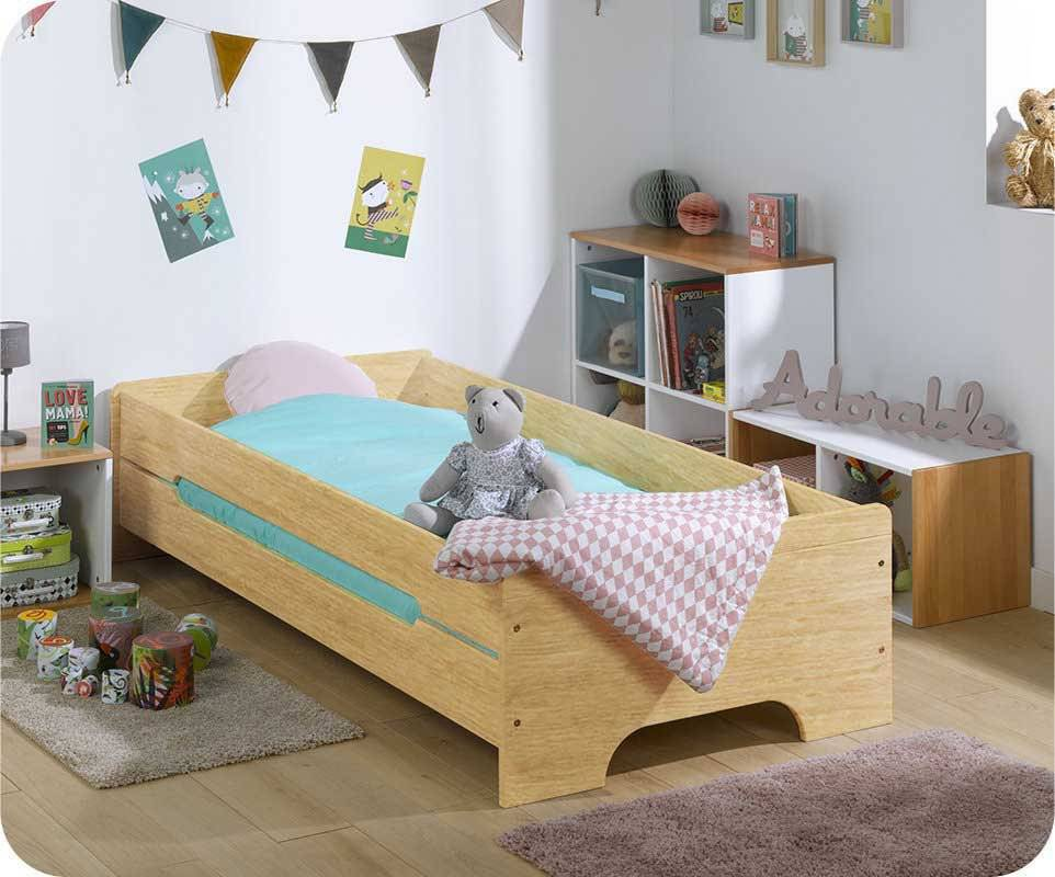 Cama juvenil TEEN Natural 90x200cm