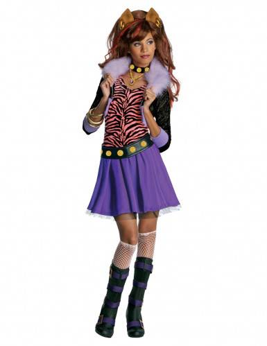 Monster Cable Disfraz de  Clawdeen Wolf Monster High  para niña 3 a 4 años (90 a 104 cm)