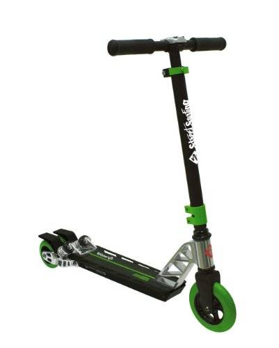 Streetsurfing Scooter Boss Carving Doppelräder Hinten - Triciclo, color negro / verde
