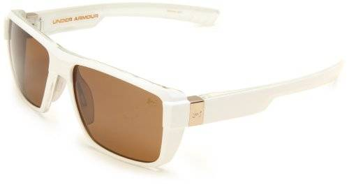 Under Armour Recon Sunglasses - White Frame ~ Brown - One Size
