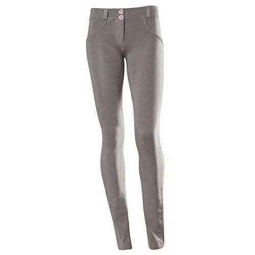 Freddy WR.UP Shaping Effect - Pantalones de fitness para mujer, color gris oscuro, talla L