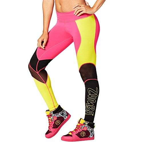 Zumba Fitness® Zumba Fitness a little Meshed Up Perfect Long Legging, todo el año, mujer, color Shocking Pink, tamaño xx-large