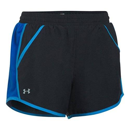 Under Armour Fly By Pantalón Corto, Mujer, Negro, L