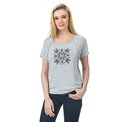 Rip Curl Padlei Tee Camiseta Mujer talla M color Cement Marle