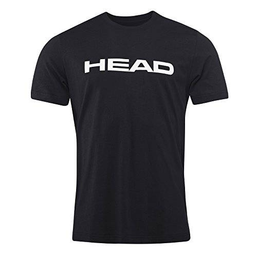 Head Ivan Camiseta, Hombre, Negro/Blanco, Small