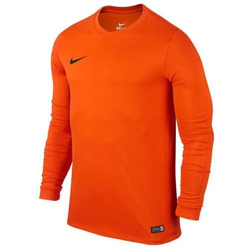 Nike LS Park VI Jsy - Camiseta para hombre con mangas largas, color naranja/negro (safety orange/black), talla S