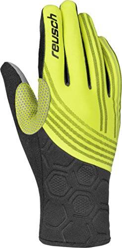 Reusch Guantes Owen, Black/Neon Yellow, 9, 4506101