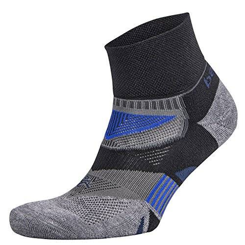 Balega Enduro V de Tech Quarter Sock, unisex, Enduro V-Tech Quarter, Negro/gris, large