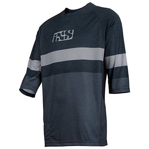 IXS Vibe 7.1 BC 3/4 Jersey, Otoño-invierno, hombre, color negro/gris, tamaño xx-large