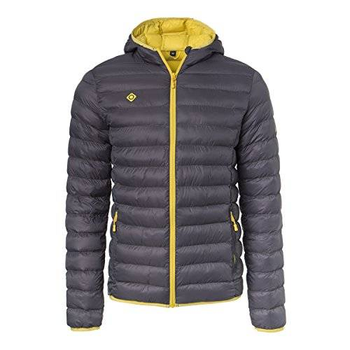 Izas Sindu Chaqueta, Hombre, Gris (Dark Grey / Yellow), 4XL