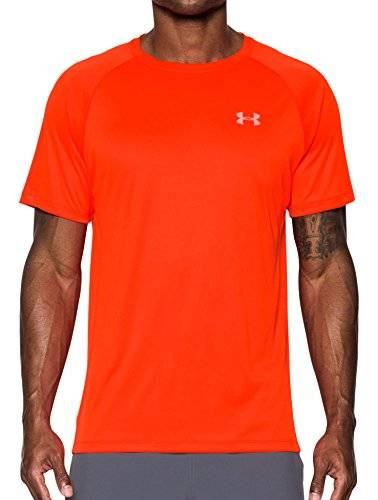 Under Armour Speed Stride Camisa de Manga Corta, Hombre, Naranja, L